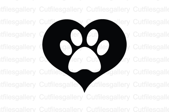 Download Free Paw Heart Graphic By Cutfilesgallery Creative Fabrica for Cricut Explore, Silhouette and other cutting machines.