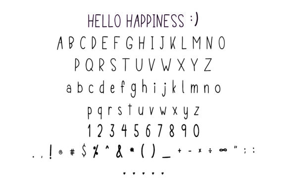 Print on Demand: Hello Happiness Script & Handwritten Font By Danika D. - Image 4