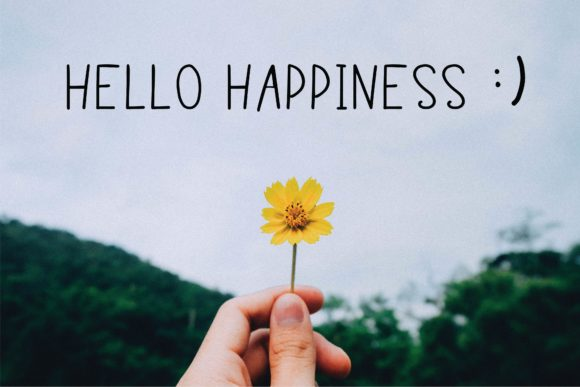 Print on Demand: Hello Happiness Script & Handwritten Font By Danika D.