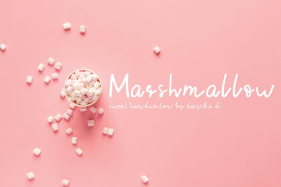 Print on Demand: Marshmallow Script & Handwritten Font By Danika D.
