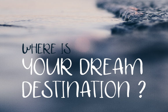 Print on Demand: Dream Deatination Script & Handwritten Font By bitongphoto