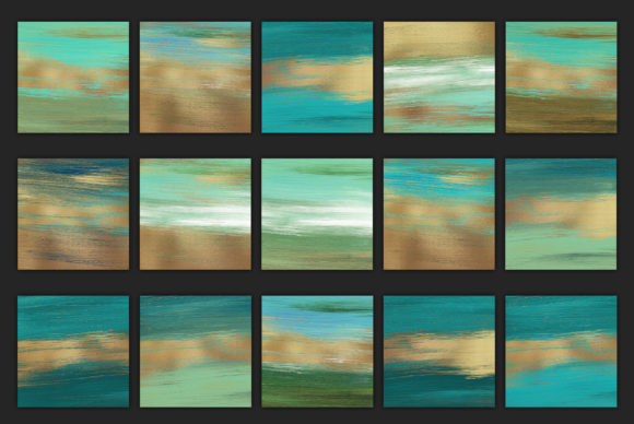 Print on Demand: Gold Watercolor & Oil Paint Collections Graphic Textures By Creative Paper - Image 4