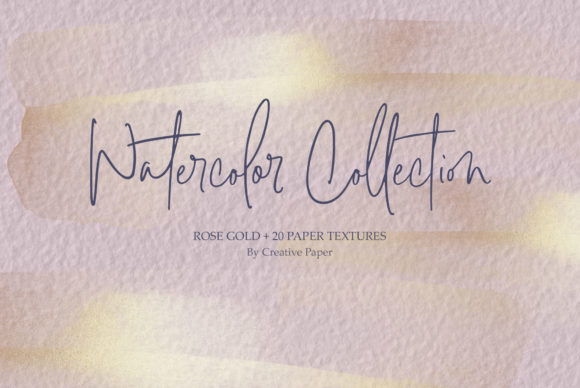 Print on Demand: Gold Watercolor & Oil Paint Collections Graphic Textures By Creative Paper - Image 15