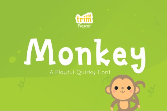 Print on Demand: Monkey Display Font By Trim Studio