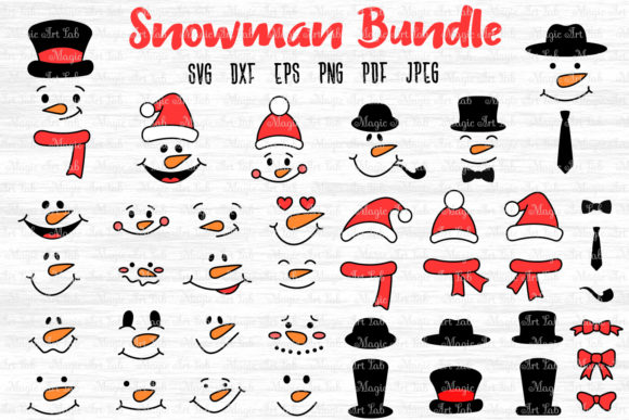 Snowman Bundle  Graphic Crafts By MagicArtLab