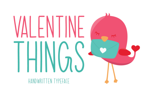 Print on Demand: Valentine Things Display Font By FontEden