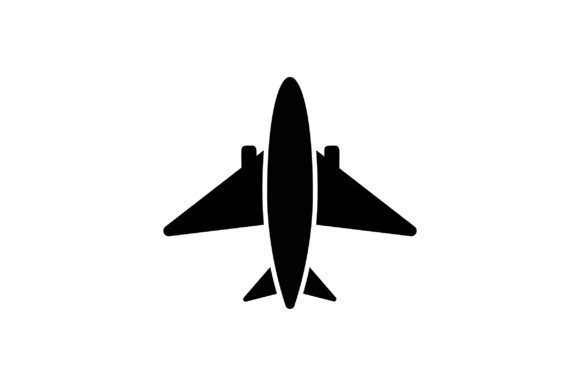 Download Free Aeroplane Glyph Vector Icon Graphic By Riduwan Molla Creative for Cricut Explore, Silhouette and other cutting machines.