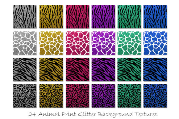 Glitter Animal Print Patterns Graphic Patterns By GJSArt - Image 2