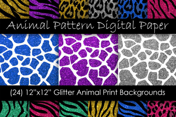 Glitter Animal Print Patterns Graphic Patterns By GJSArt