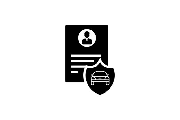 Car Security Shield Glyph Vector Icon Graphic By Riduwan Molla