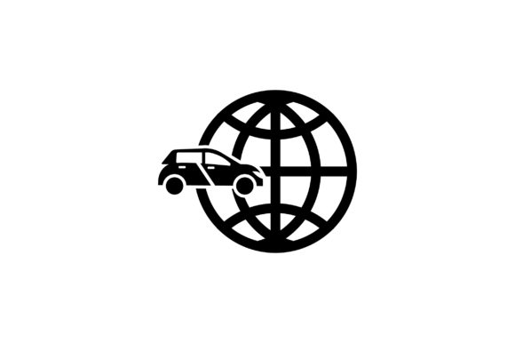 Download Free Car And Globe Glyph Vector Icon Graphic By Riduwan Molla for Cricut Explore, Silhouette and other cutting machines.