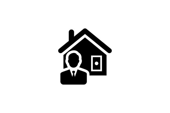 Download Free Man With House Glyph Vector Icon Graphic By Riduwan Molla for Cricut Explore, Silhouette and other cutting machines.