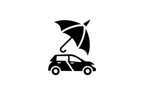 Download Free Car Insurance Glyph Vector Icon Graphic By Riduwan Molla for Cricut Explore, Silhouette and other cutting machines.