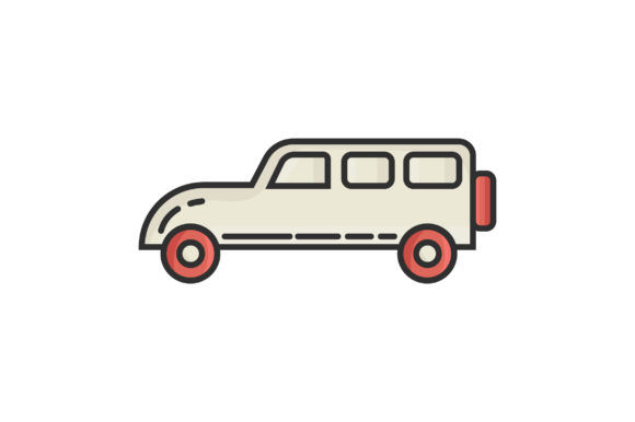Download Free Car Liner Fill Vector Icon Graphic By Riduwan Molla Creative for Cricut Explore, Silhouette and other cutting machines.