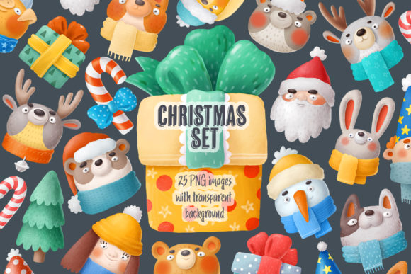 Print on Demand: Christmas Set Graphic Illustrations By Architekt_AT - Image 6
