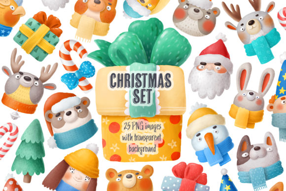 Print on Demand: Christmas Set Graphic Illustrations By Architekt_AT - Image 1