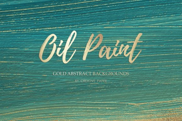 Print on Demand: Gold Watercolor & Oil Paint Collections Graphic Textures By Creative Paper - Image 2