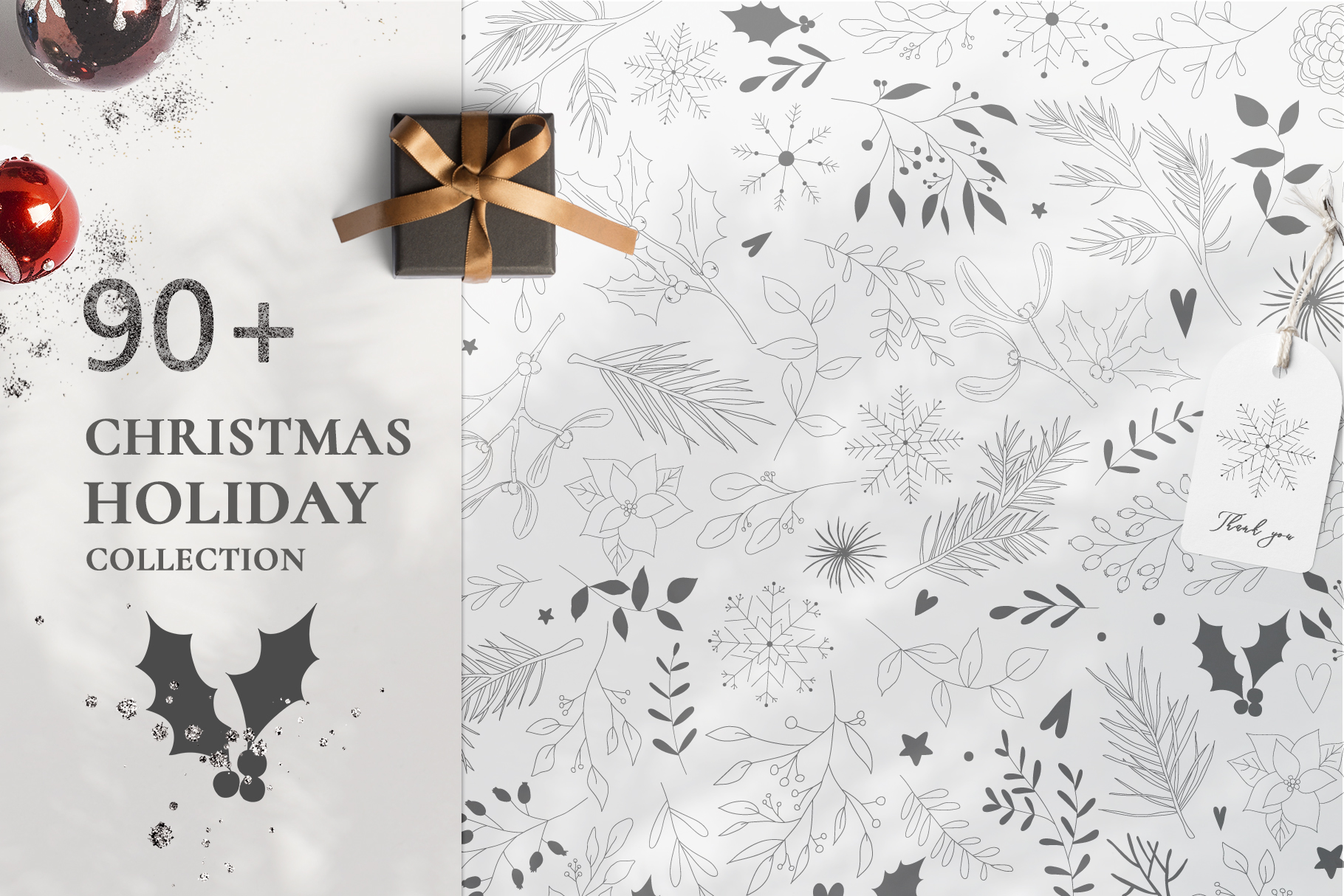 Download Free Christmas Holiday Collection Graphic By Madiwaso Creative Fabrica for Cricut Explore, Silhouette and other cutting machines.
