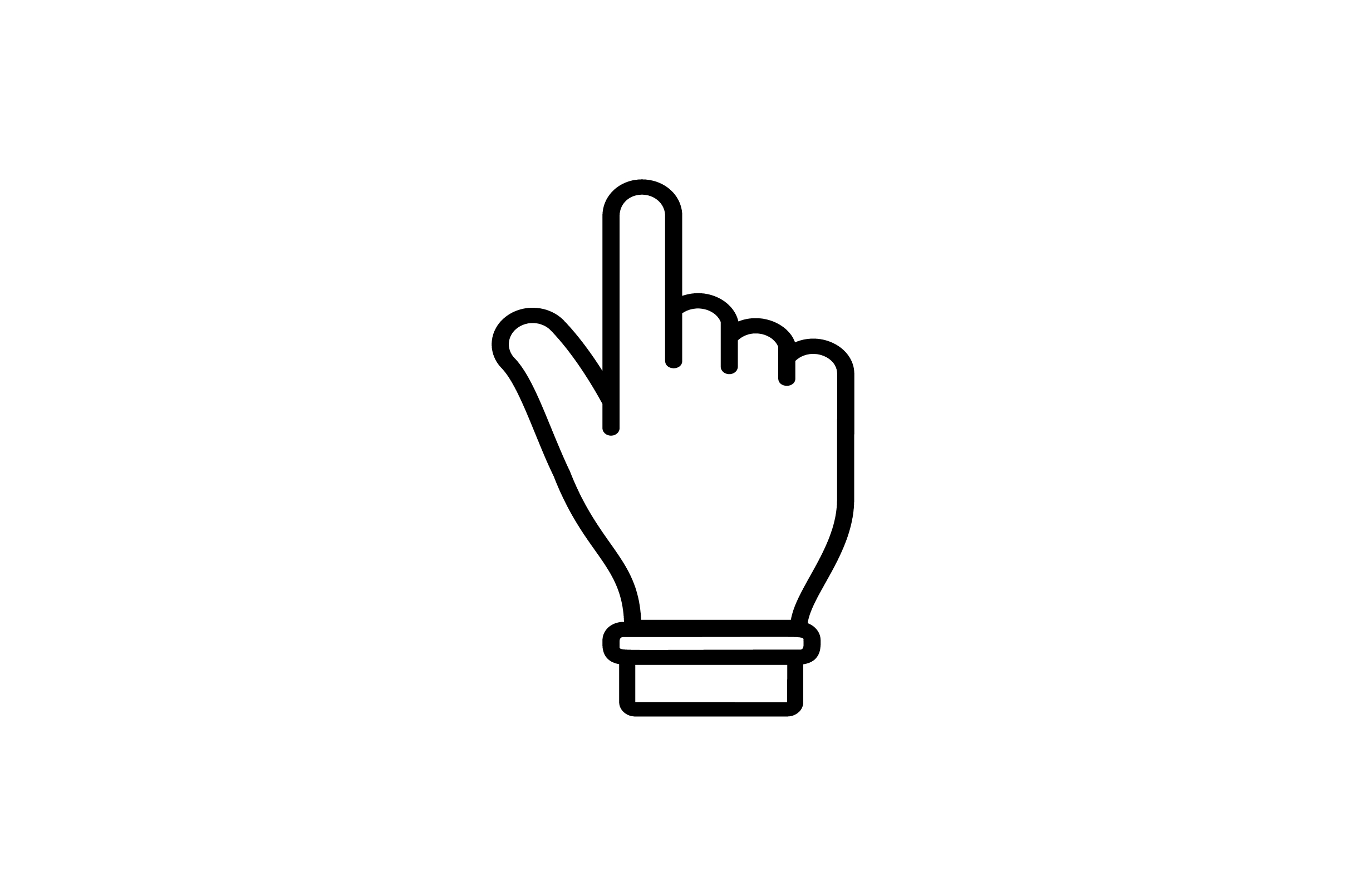 Download Free Touch On Finger Line Art Vector Icon Graphic By Riduwan Molla for Cricut Explore, Silhouette and other cutting machines.
