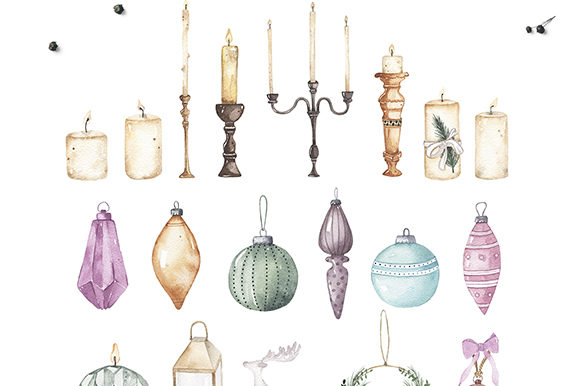 Watercolor Christmas Holiday Set Graphic Illustrations By Madiwaso - Image 10