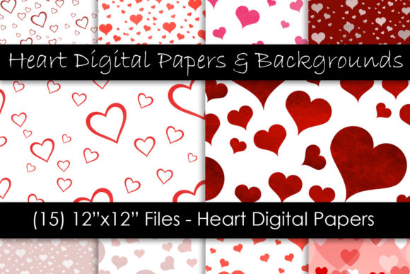 Valentine's Day Hearts - Heart Patterns Graphic Patterns By GJSArt