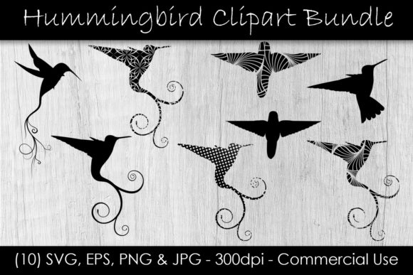 Hummingbird Clip Art Bundle Graphic Illustrations By GJSArt
