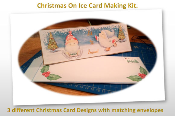 Print on Demand: Christmas Gnome Card Making Kit 3 Design Graphic Crafts By The Paper Princess - Image 2