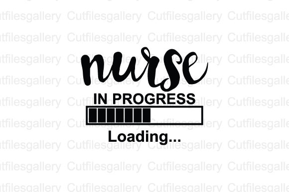 Download Free Nurse In Progress Loading Graphic By Cutfilesgallery Creative for Cricut Explore, Silhouette and other cutting machines.