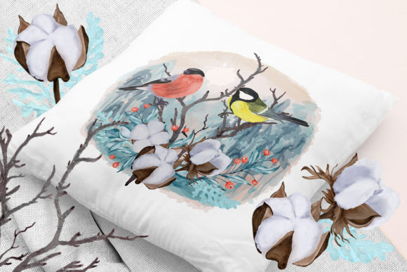 Print on Demand: Winter Flowers, Animals, Birds Forest Graphic Illustrations By PawStudio - Image 10