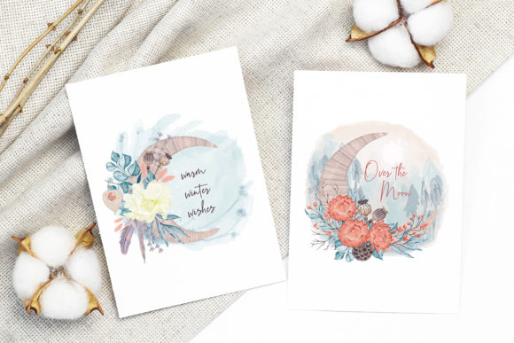 Print on Demand: Winter Flowers, Animals, Birds Forest Graphic Illustrations By PawStudio - Image 12