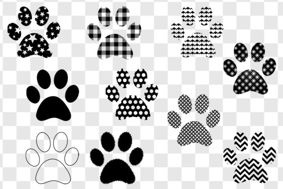 Paw Print Clip Art Bundle Graphic Illustrations By GJSArt - Image 2