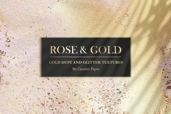 Print on Demand: Gold Watercolor & Oil Paint Collections Graphic Textures By Creative Paper - Image 10