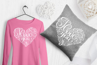I Love You Vector Valentine Quote Graphic Objects By Happy Letters 2