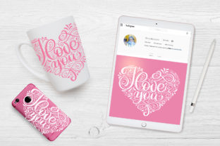 I Love You Vector Valentine Quote Graphic Objects By Happy Letters 5