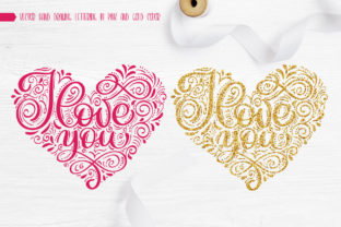 I Love You Vector Valentine Quote Graphic Objects By Happy Letters 6