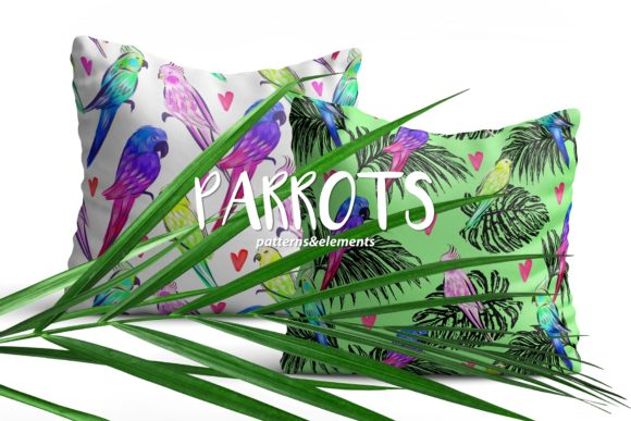 Parrots Love Graphic Patterns By MarynArts - Image 1