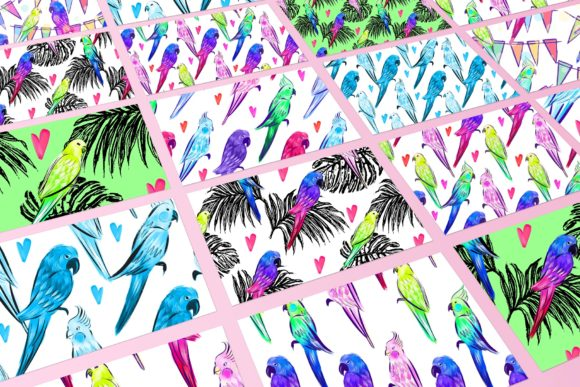 Parrots Love Graphic Patterns By MarynArts - Image 2