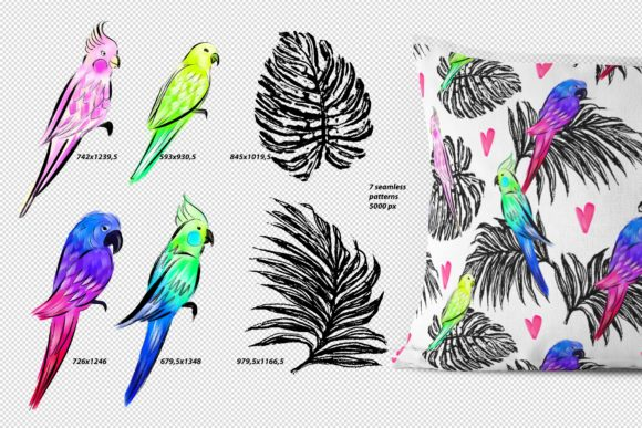 Parrots Love Graphic Patterns By MarynArts - Image 3