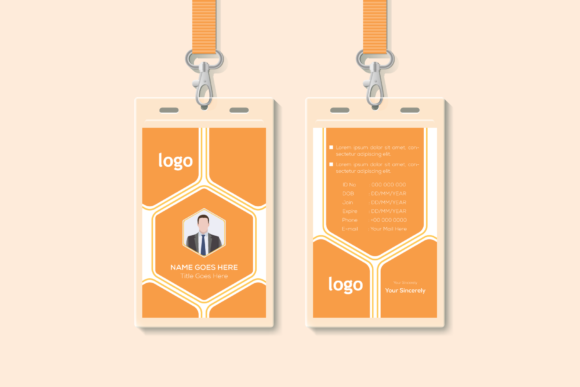 Download Free Office Id Card Template Graphic By Ju Design Creative Fabrica for Cricut Explore, Silhouette and other cutting machines.