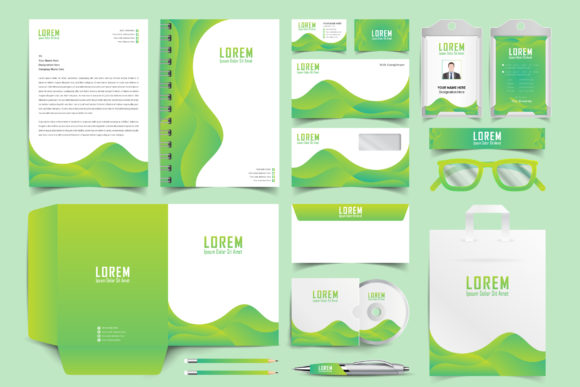 Download Free Stationary Branding Graphic By Ju Design Creative Fabrica for Cricut Explore, Silhouette and other cutting machines.