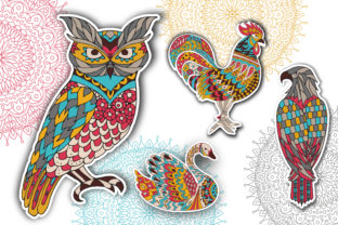 Coloring Pages - Birds Graphic Coloring Pages & Books Adults By Peliken 1