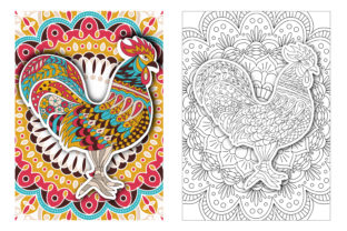 Coloring Pages - Birds Graphic Coloring Pages & Books Adults By Peliken 2