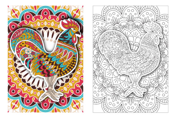 Coloring Pages - Birds Graphic Coloring Pages & Books Adults By Peliken - Image 2