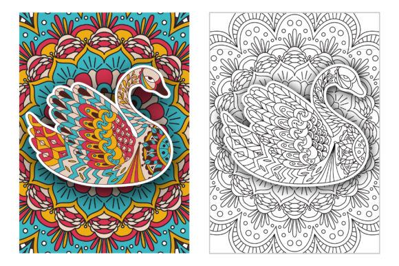 Coloring Pages - Birds Graphic Coloring Pages & Books Adults By Peliken - Image 3