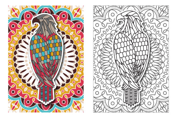 Coloring Pages - Birds Graphic Coloring Pages & Books Adults By Peliken - Image 4