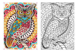 Coloring Pages - Birds Graphic Coloring Pages & Books Adults By Peliken 5