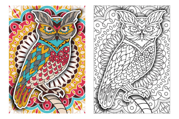 Coloring Pages - Birds Graphic Coloring Pages & Books Adults By Peliken - Image 5