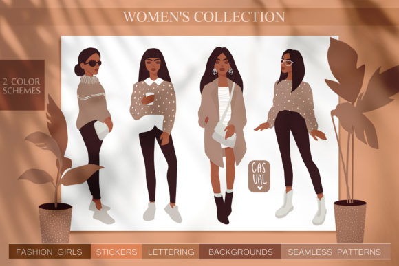 Women, Girls Fashion Illustration Graphic Illustrations By yana26789 - Image 1