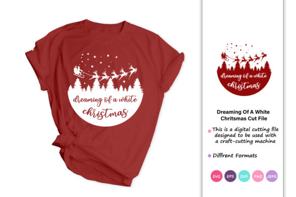 Print on Demand: Dreaming of a White Christmas Graphic Crafts By iprintasty - Image 1