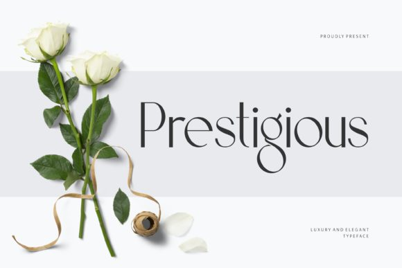 Print on Demand: Prestigious Display Font By Fype Co.